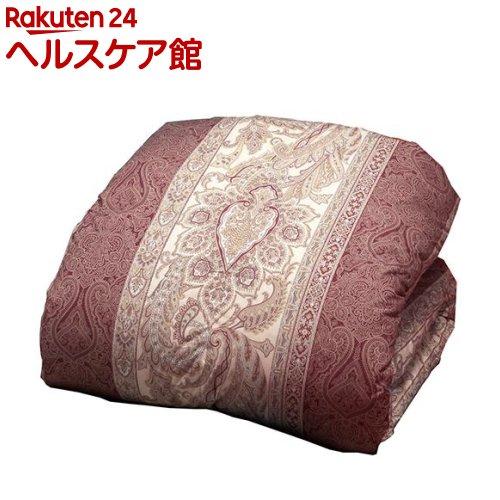 英国産ダウン&フェザー掛布団 ペイズリー ピンク ダブル(1枚入)