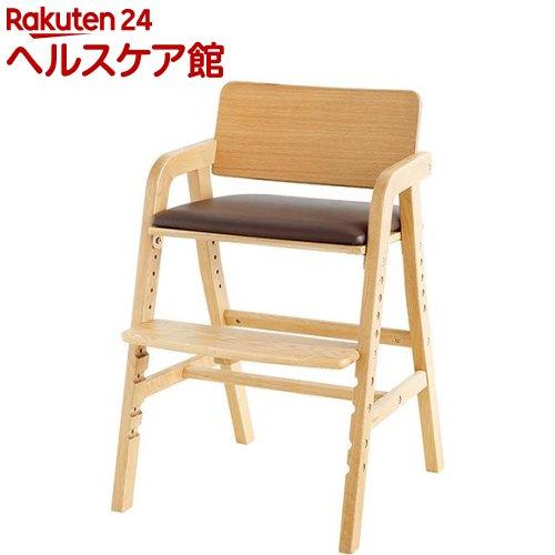キトコ キッズダイニングチェア ナチュラル+ブラウン(1台)【送料無料】