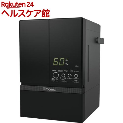 roomist スチームファン蒸発式加湿器 ブラック SHE60RD-K(1台入)【送料無料】