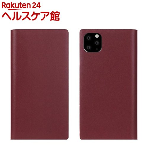 SLG Design iPhone 11 Pro Max Calf Skin Leather Diary バーガンディ SD17965i65R(1個)【SLG Design(エスエルジーデザイン)】
