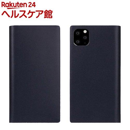SLG Design iPhone 11 Pro Max Calf Skin Leather Diary ネイビー SD17967i65R(1個)【SLG Design(エスエルジーデザイン)】