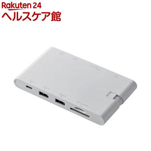 エレコム Type-Cドッキングステーション ホワイト(DST-C05WH)(1コ入)【エレコム(ELECOM)】