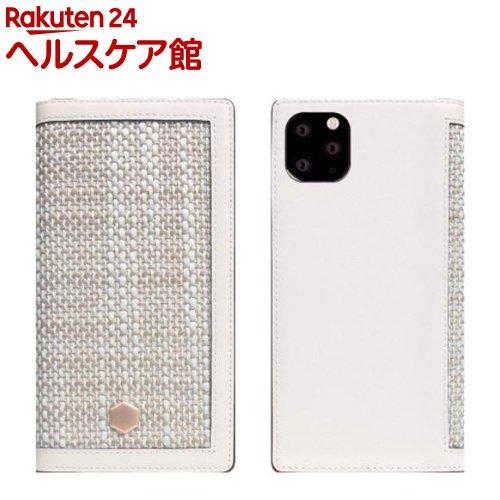 SLG iPhone 11 Pro Max Edition Calf Skin Leather Diary ホワイト SD17969i65R(1個)【SLG Design(エスエルジーデザイン)】
