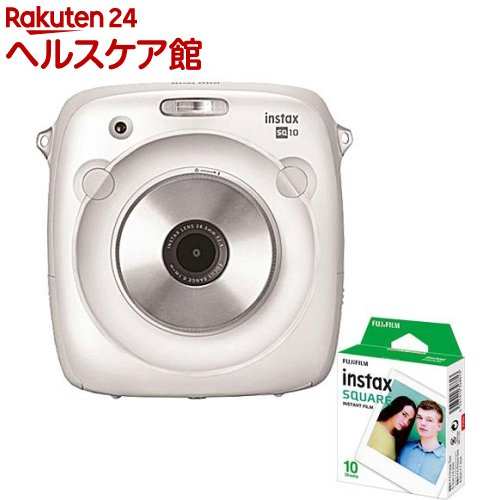 【おまけ付き】富士フイルム インスタントカメラ instax SQUARE SQ10 ホワイト(1台)【送料無料】