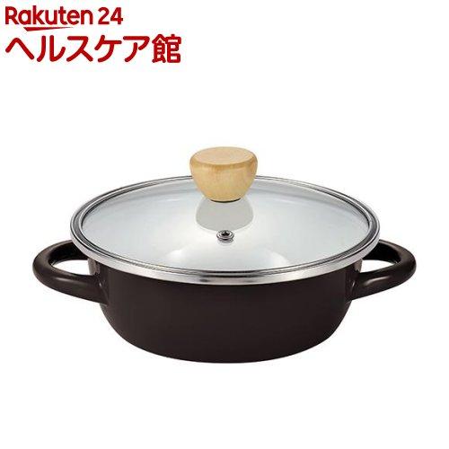 プチクック ホーローガラス蓋よせ鍋 ブラック 16cm HB-2471(1コ入)