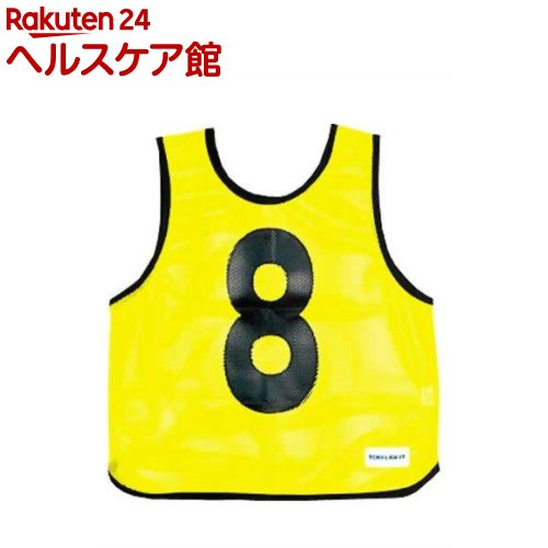 メッシュベスト(1-10) 蛍光イエロー B-7691Y(1枚入)【トーエイライト】