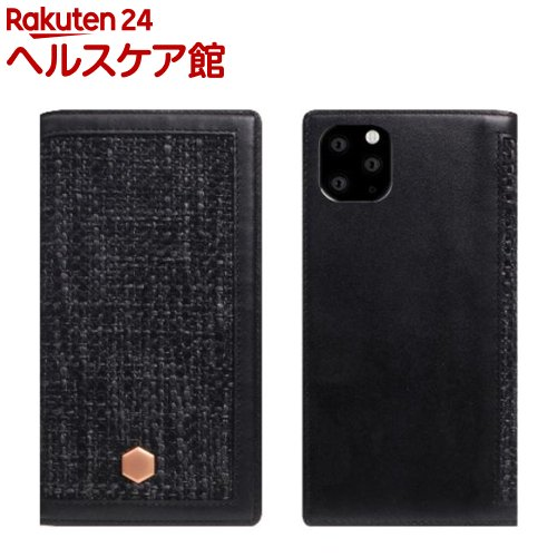 SLG iPhone 11 Pro Max Edition Calf Skin Leather Diary ブラック SD17973i65R(1個)【SLG Design(エスエルジーデザイン)】