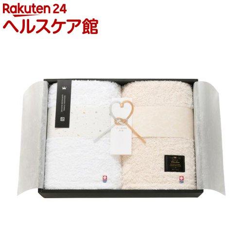IMABARI殿堂 天然水仕上げ 愛媛今治 タオルセット ホワイト ベージュ 62412(2枚組)