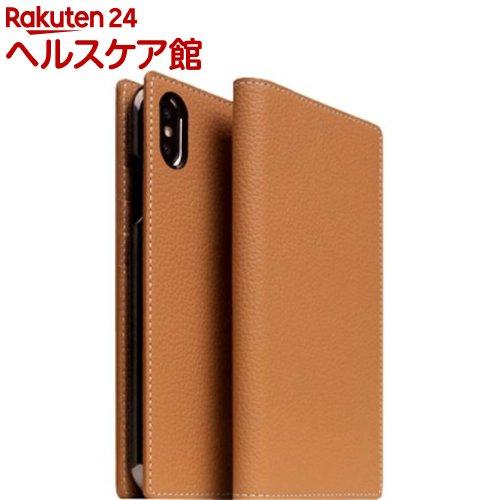 SLG iPhone XS MAX フルグレインレザーケース キャラメルクリーム SD15473i65(1個)【SLG Design(エスエルジーデザイン)】