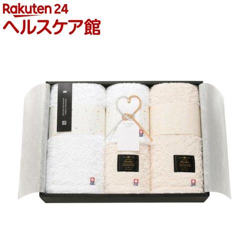 IMABARI殿堂 天然水仕上げ 愛媛今治 タオルセット ホワイト ベージュ 62417(4枚組)