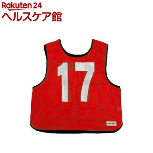メッシュベスト(11-20) 赤 B-7692R(1枚入)【トーエイライト】