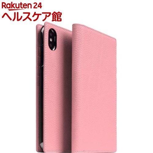 SLG iPhone XS MAX フルグレインレザーケース ライトローズ SD15475i65(1個)【SLG Design(エスエルジーデザイン)】