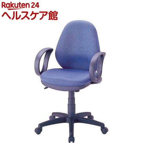 ナカバヤシ OAチェア ブルー 肘付 CGN-302-B(1コ入)【ナカバヤシ】【送料無料】