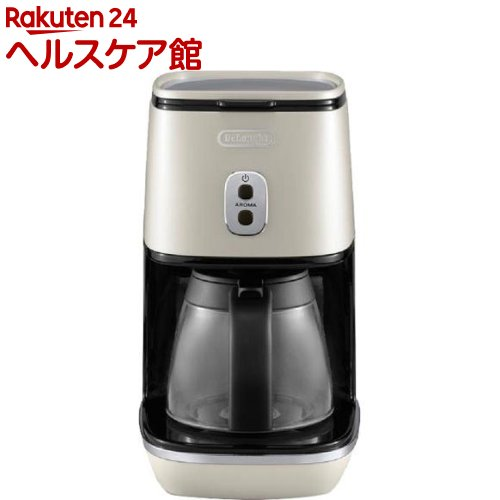 デロンギ ディスティンタコレクション ドリップコーヒーメーカー ピュアホワイト ICMI011J-W(1台)【デロンギ】【送料無料】
