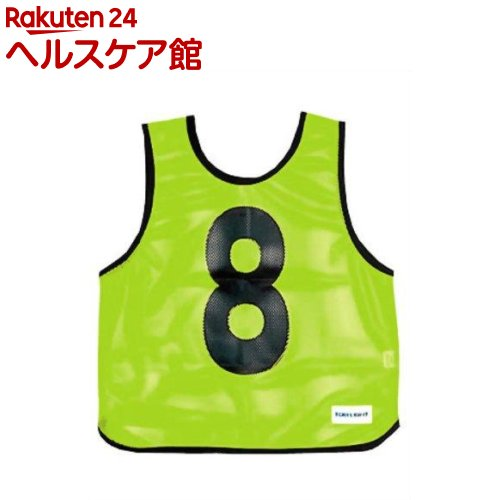 メッシュベストジュニア(1-10) 蛍光グリーン B-7693G(1枚入)【トーエイライト】