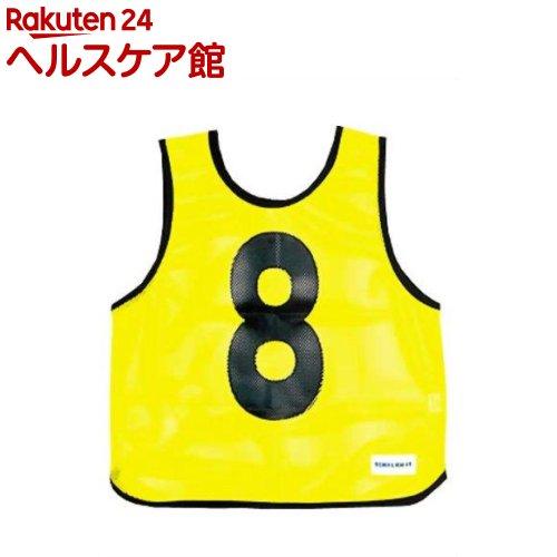 メッシュベストジュニア(1-10) 蛍光イエロー B-7693Y(1枚入)【トーエイライト】