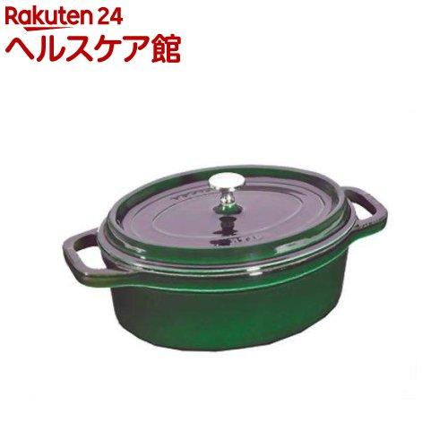 staub ピコ・ココットオーバル 23cm バジルグリーン(1コ入)【ストウブ】【送料無料】