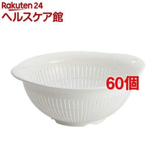 Nポゼ ザル 24型 ホワイト(60個セット)【ポゼ(シンク廻り商品)】
