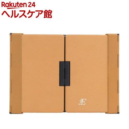 3E Bluetooth キーボード Dual 3つ折りタイプ ブラック×ブラウンゴールド(1台)【3E(スリーイー)】