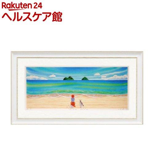 ユーパワー アートフレーム くりのきはるみ 版画(ジグレー) Shima Shima(L) KH-50013(1コ入)【ユーパワー】【送料無料】