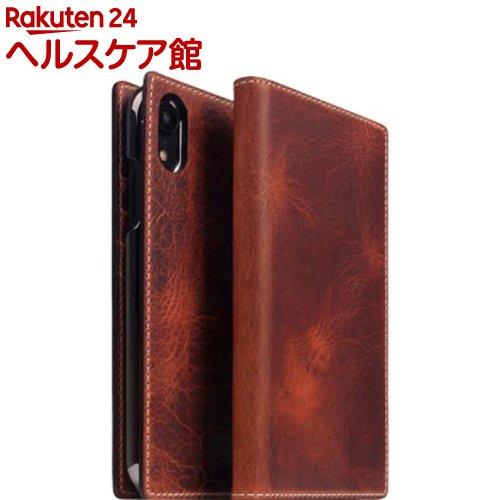 SLG iPhone XR バダラッシーワックスケース ブラウン SD13690i61(1個)【SLG Design(エスエルジーデザイン)】