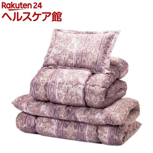 防ダニ抗菌防臭加工 ほこりの出にくいボリューム寝具セット シングル8点 ピンク系(1セット)【送料無料】