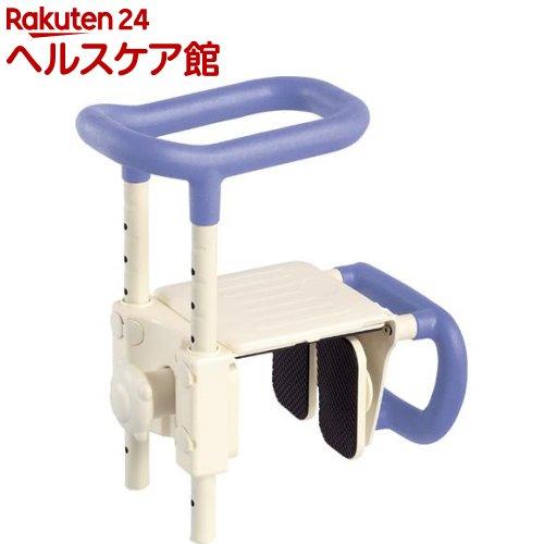 高さ調節付浴槽手すり UST-165W 536-611 ブルー(1台)【送料無料】