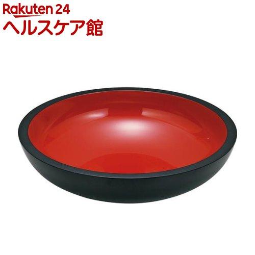 鉢 こね鉢 16.0 黒内朱 48*12.5cm(1コ入)