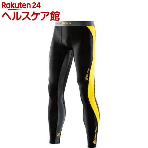 スキンズ DNAMIC メンズ ロングタイツ ブラック*シトロン XS DK9905001(1枚入)【スキンズ(SKINS)】【送料無料】