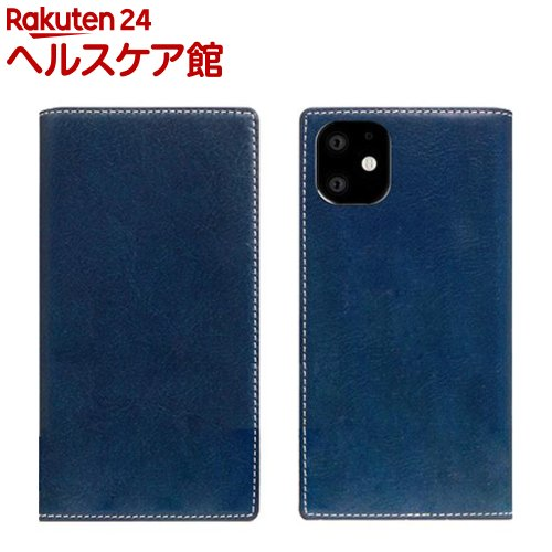 SLG Design iPhone 11 Tamponata Leather case ブルー SD17898i61R(1個)【SLG Design(エスエルジーデザイン)】