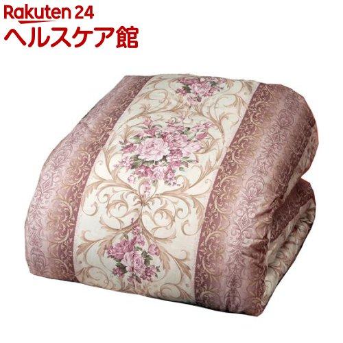 チェリバリーダックダウン 羽毛掛布団 ピンク系 ダブル 英国産(1枚)