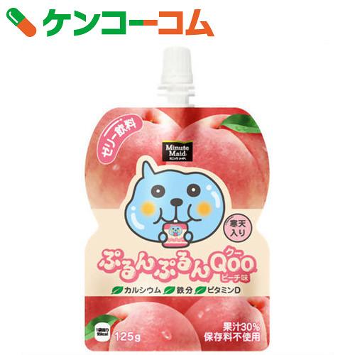 *6个minittsumeido purumpurun Qoo(ku)桃子味道125g[Qoo(ku)果冻饮料]