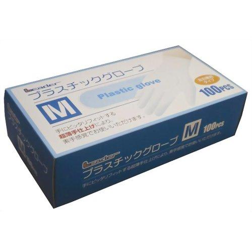 LEプラスチックグローブM100P クーポン配布中 LEプラスチックグローブ Mサイズ ポリ手袋 使い捨て手袋 100枚入り お買い得品 送料無料(一部地域を除く)