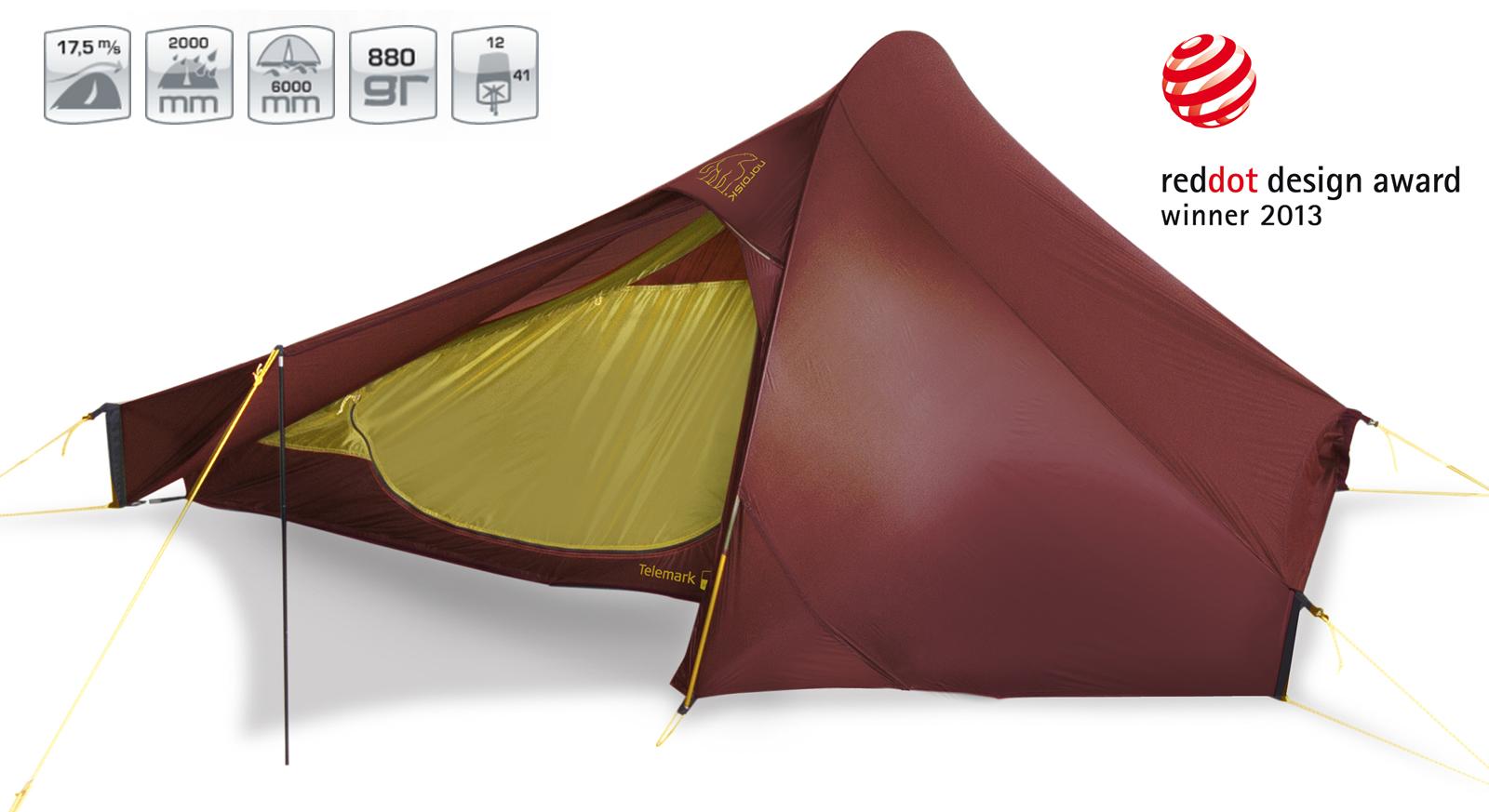 【国内正規品】NORDISK テント Telemark 2 ULW (テレマーク2 ULW) レッド[151007]【送料無料/代引き無料】(ノルディスク 2人用 テント アウトドア用品 キャンプ用品 キャンプテント アウトドア特集)【SUMMER_D18】