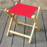 Blue Ridge Chair Works (blue ridge chair works) フォルディングストゥールレッド [FSCH04WR] (outdoor camp chair chair chair chair camping equipment stool)