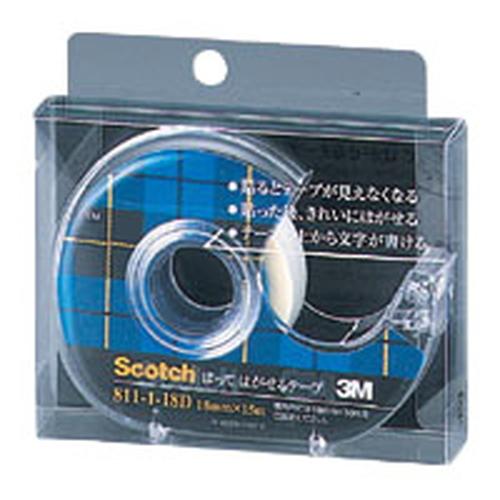 はってはがせるテープ [811-1-18D] 1個 (小巻)巻芯径25mm(透明粘着テープ 透明テープ) 【ゆうパケット配送対象】はってはがせるテープ [811-1-18D] 1個 (小巻)巻芯径25mm(透明粘着テープ 透明テープ)(ポスト投函 追跡ありメール便)
