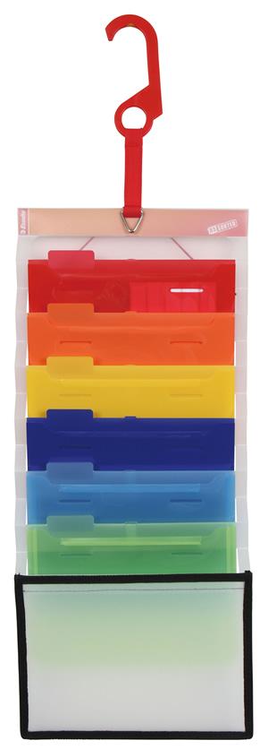 Esselte エセルテ ファイル 男女兼用 ソーテッド A5 SD22360 SALE開催中 6ポケット レインボー 横 クーポン配布中