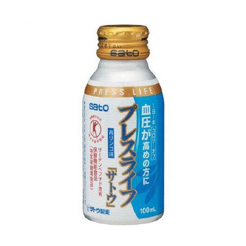 佐藤製薬 セール プレスライフ 100ml 超人気 血圧が高めの方に 青リンゴ味 特定保健用食品