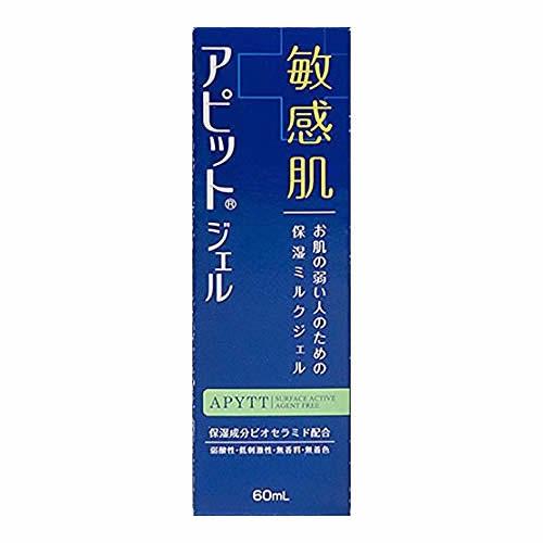 ナノテク低刺激性保湿ジェル  全薬工業 アピットジェルS 60mL(乾燥肌 肌荒れ 肌あれ 皮膚の保護 敏感肌 弱酸性 低刺激 無香料 無着色 ミルクジェル)