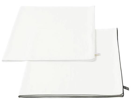 抗菌高級コットン100%の安心 贈与 白く清潔な 掛け布団カバー ダブル 80 モデル着用&注目アイテム