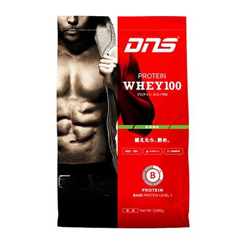 【送料無料/代引き無料】DNS プロテインホエイ100 抹茶風味 3kg [ホエイプロテイン](大量摂取型プロテイン WHEY100 筋トレ ディーエヌエス タンパク質 サプリメント)