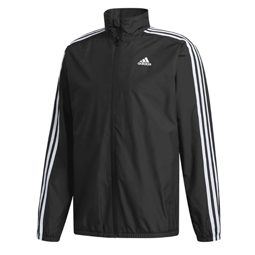 adidas Adidas stripe windbreaker jacket (back raising) black FYK45
