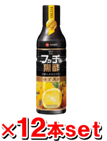 *12 フッチョ black vinegar (citron vinegar) 500mL [one case] [Korean fermentation black vinegar / health-promoting vinegar / rouge vinegar /2PM/KARA]
