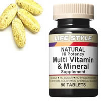 LIFE STYLE (lifestyle) multivitamins & minerals 90 tablets into [tablets] (multi vitamin mineral Multi Vitamine & Mineral / supplements / supplement / nutrition AIDS / folic acid) upup7