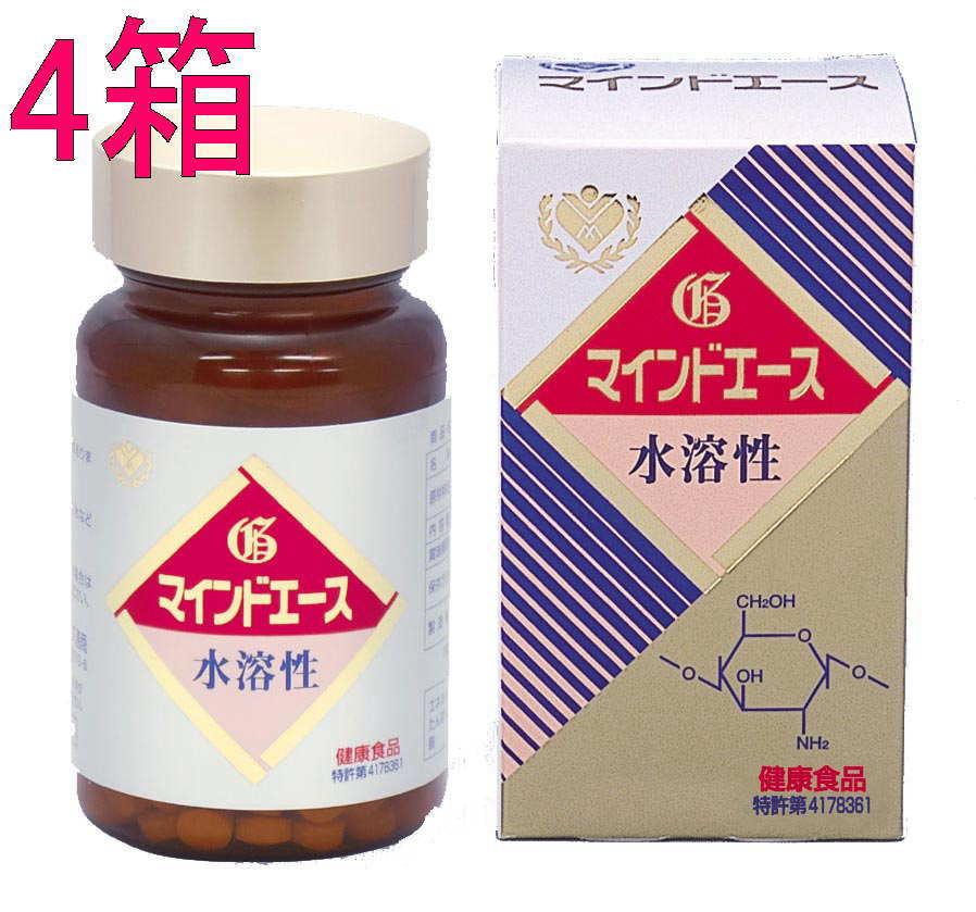 【送料無料】マインドエース平状300錠 (4箱販売) 水溶性キトサン /キトサン食品工業正規品