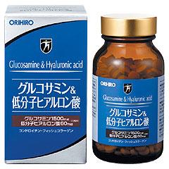 オリヒロ「グルコサミン&低分子ヒアルロン酸」432粒×2個セット