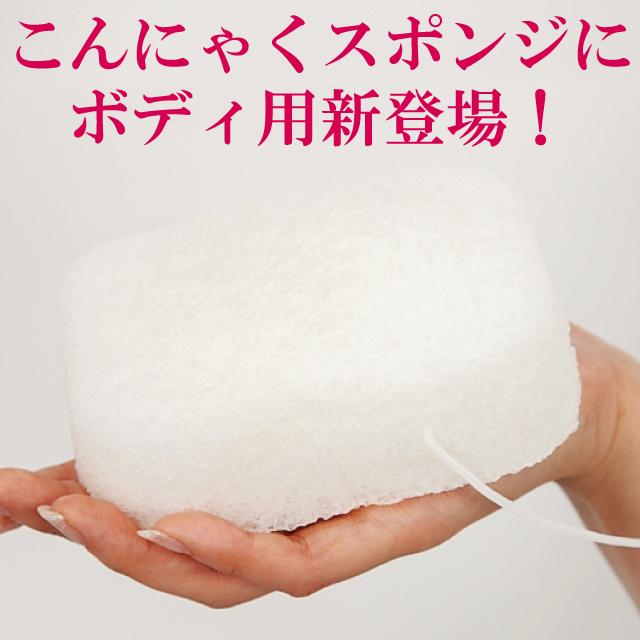 送料無料 こんにゃくスポンジ ボディ用 白 100%こんにゃく まとめ買いがお得 メーカー公式ショップ にも 敏感肌 全国どこでも送料無料 ベビー アトピー