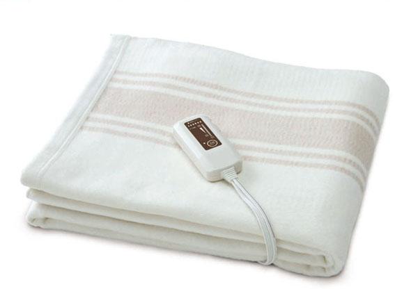 【電気毛布 電気掛敷 オーガニックコットン毛布】掛け敷き両用タイプ寝具ゼンケンぽかぽか あったか 寒さ対策 冷え性対策