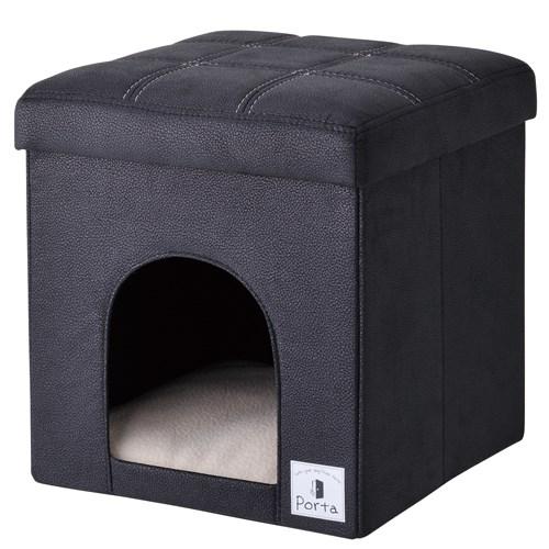 ◇Petio(ペティオ) Porta(ポルタ) ドッグハウス&スツール ブラック レギュラー