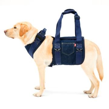 ◇トンボ 歩行補助ハーネスLaLaWalk(ララウォーク) 大型犬用 デニム S